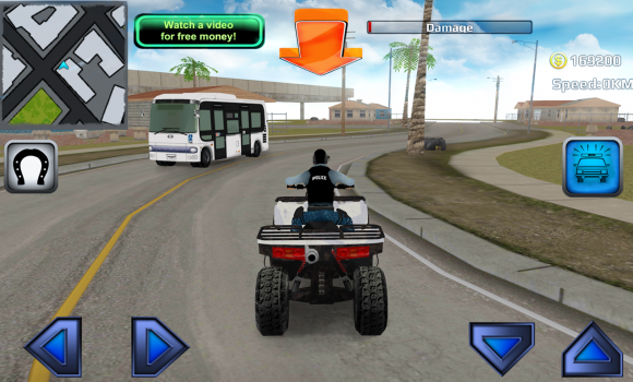 Police Quad Chase Simulator 3D Ekran Görüntüleri - 2