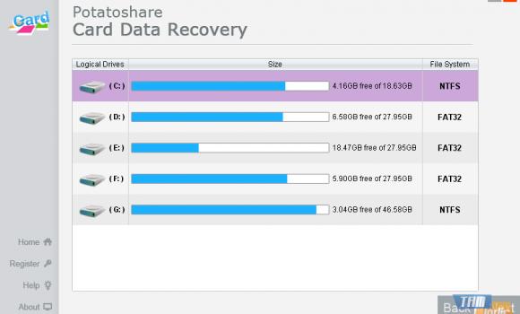Potatoshare Card Data Recovery Ekran Görüntüleri - 3