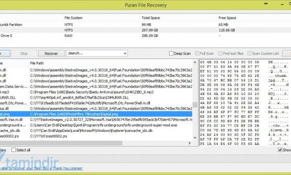 Puran File Recovery Ekran Görüntüleri - 1