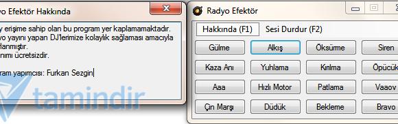Radyo Efektör Ekran Görüntüleri - 1