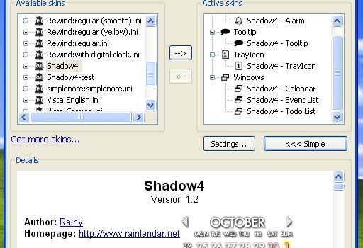Rainlendar Pro Ekran Görüntüleri - 3