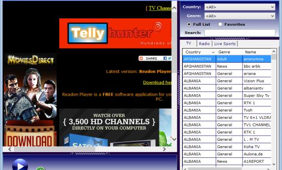 Readon TV Movie Radio Player Ekran Görüntüleri - 2