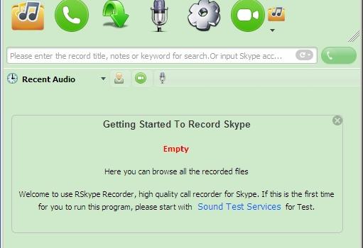RSkype Recorder Ekran Görüntüleri - 1