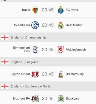 Soccer Scores Ekran Görüntüleri - 5