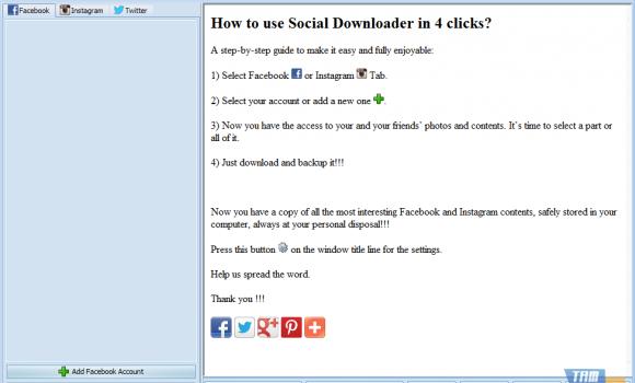 Social Downloader Ekran Görüntüleri - 1