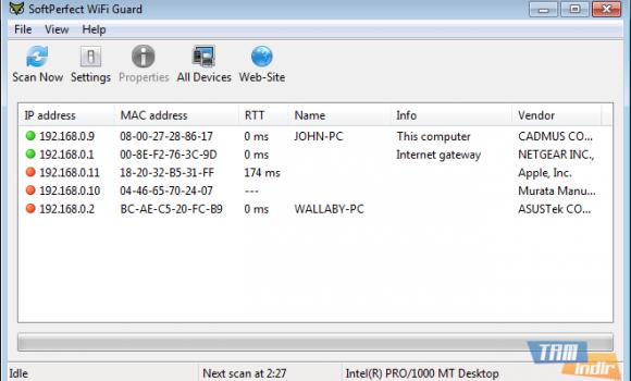 SoftPerfect WiFi Guard Ekran Görüntüleri - 1