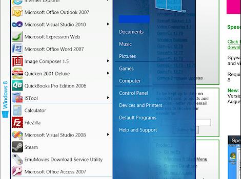 Spesoft Windows 8 Start Menu Ekran Görüntüleri - 1