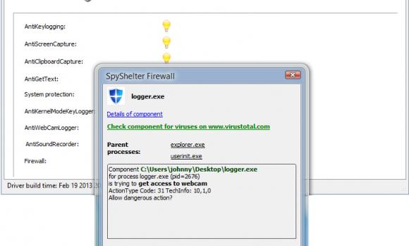 SpyShelter Firewall Ekran Görüntüleri - 1