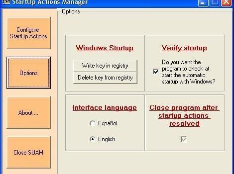 StartUp Actions Manager Ekran Görüntüleri - 2
