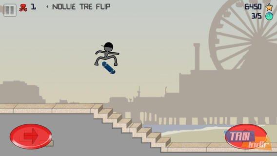 Stickman Skater Free Ekran Görüntüleri - 3
