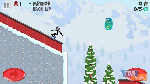 Stickman Snowboarder Ekran Görüntüleri - 4