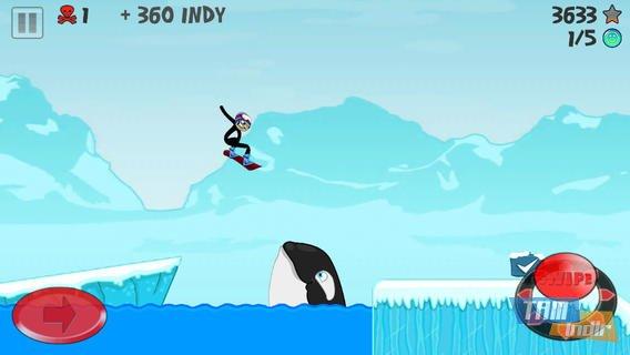 Stickman Snowboarder Ekran Görüntüleri - 3