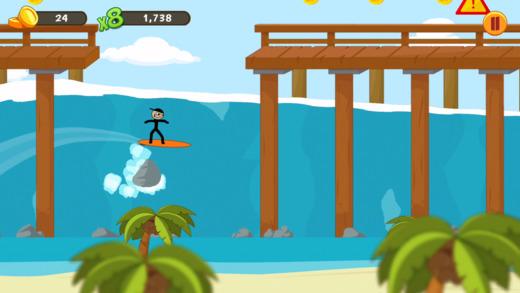 Stickman Surfer Ekran Görüntüleri - 4