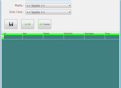 Stok Takip / Fiyat Teklifi Hazırlama / Cari Kontrol Sistemi Ekran Görüntüleri - 1