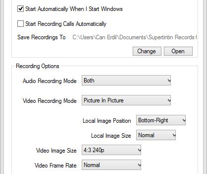 SuperTintin Skype Recorder Ekran Görüntüleri - 1