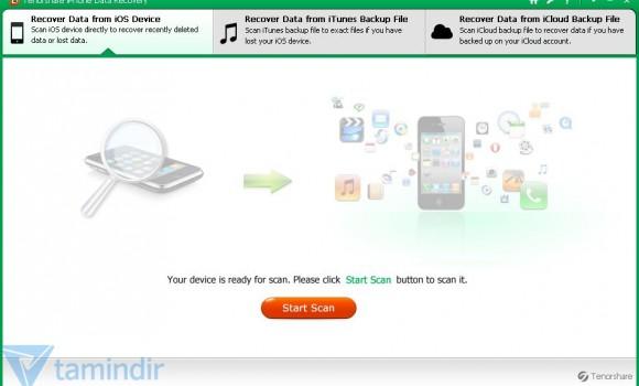 Tenorshare iPhone 5 Data Recovery Ekran Görüntüleri - 5