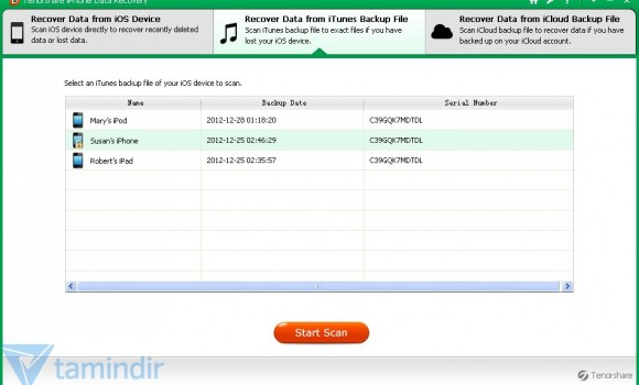 Tenorshare iPhone 5 Data Recovery Ekran Görüntüleri - 3