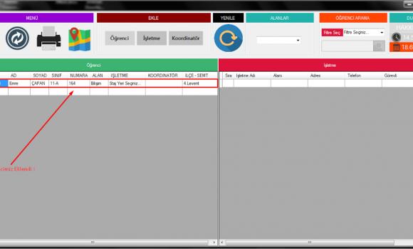 Teom - Stajyer Takip Programı Ekran Görüntüleri - 4