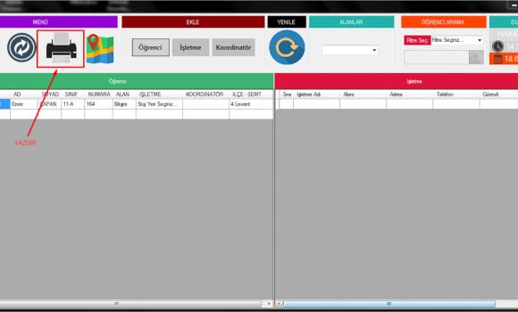 Teom - Stajyer Takip Programı Ekran Görüntüleri - 3