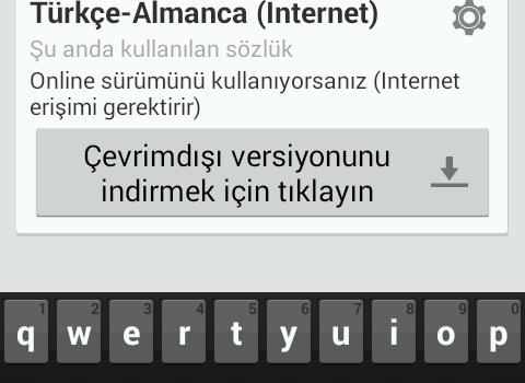 Türkçe-Almanca Sözlük Ekran Görüntüleri - 9