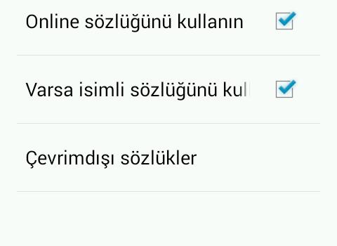 Türkçe-Almanca Sözlük Ekran Görüntüleri - 5