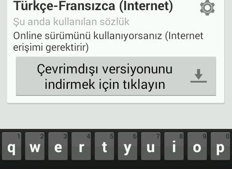 Türkçe-Fransızca Sözlük Ekran Görüntüleri - 10