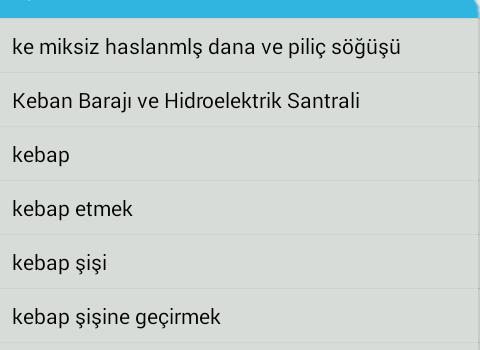 Türkçe-İngilizce Sözlük Ekran Görüntüleri - 7