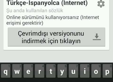 Türkçe-İspanyolca Sözlük Ekran Görüntüleri - 10