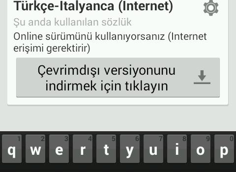 Türkçe-İtalyanca Sözlük Ekran Görüntüleri - 8