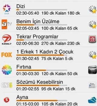 TV Yayın Akışı Ekran Görüntüleri - 2