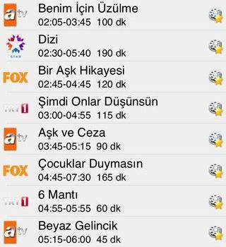 TV Yayın Akışı Ekran Görüntüleri - 1