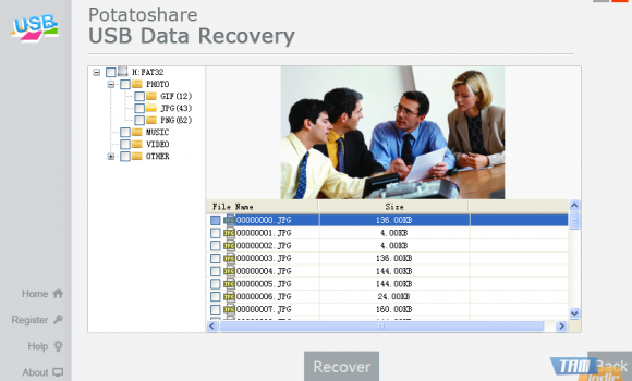 USB Data Recovery Ekran Görüntüleri - 1