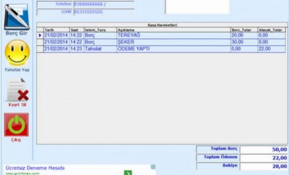 Veresiye Programı Ekran Görüntüleri - 1