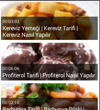 Video Yemek Tarifleri Ekran Görüntüleri - 2
