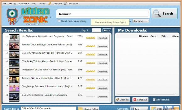 VideoZonk Youtube Downloader Ekran Görüntüleri - 3