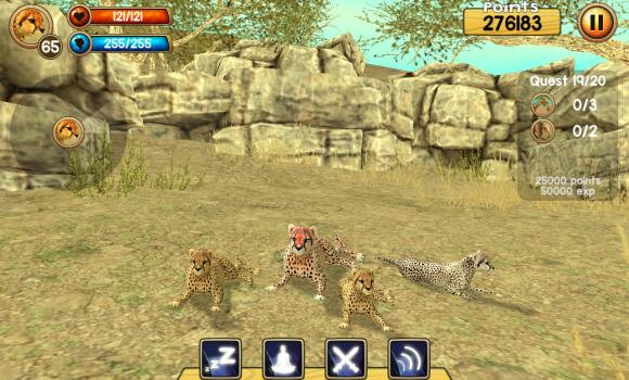 Wild Cheetah Sim 3D Ekran Görüntüleri - 3