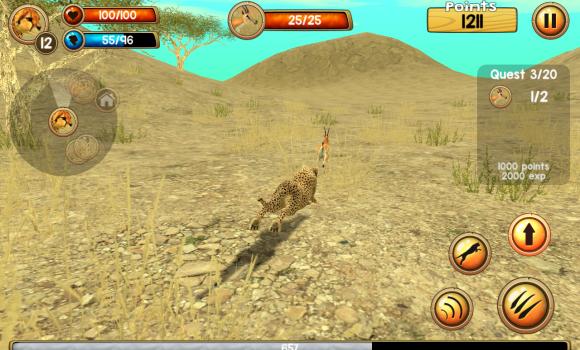 Wild Cheetah Sim 3D Ekran Görüntüleri - 2