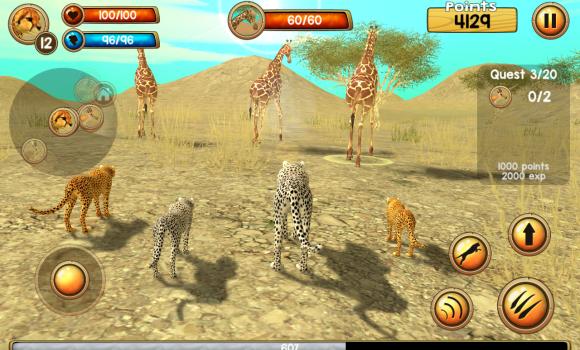 Wild Cheetah Sim 3D Ekran Görüntüleri - 1