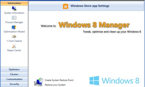Windows 8 Manager Ekran Görüntüleri - 1