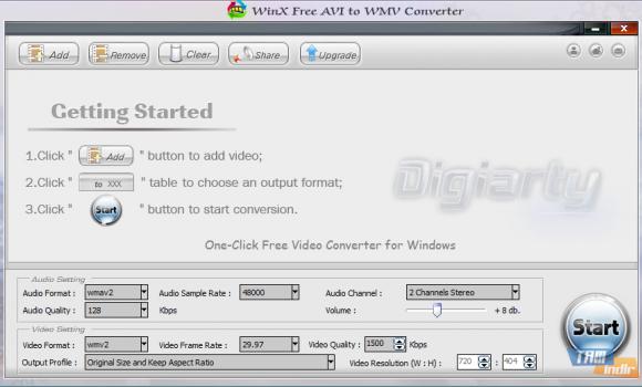 WinX Free AVI to WMV Converter Ekran Görüntüleri - 1