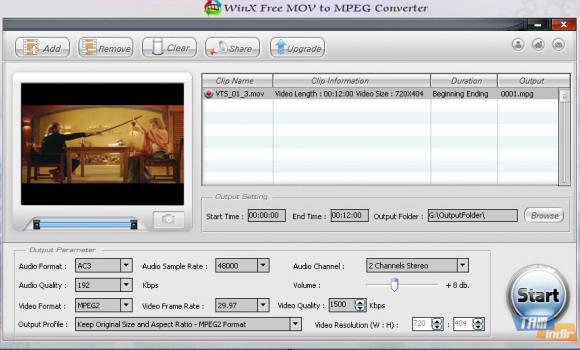 WinX Free WMV to MP4 Converter Ekran Görüntüleri - 1
