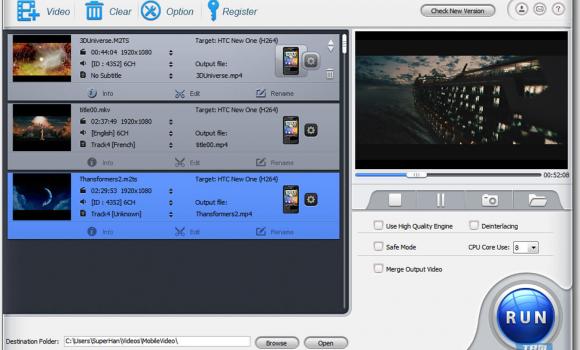 WinX Mobile Video Converter Ekran Görüntüleri - 1