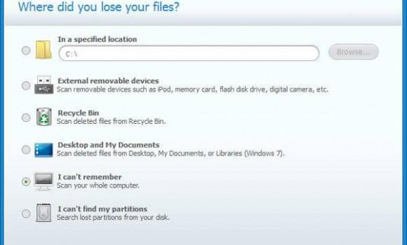 Wondershare Data Recovery Ekran Görüntüleri - 1