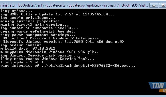 WSUS Offline Update Ekran Görüntüleri - 1