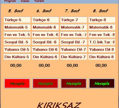 YBP Hesaplama Programı Ekran Görüntüleri - 1