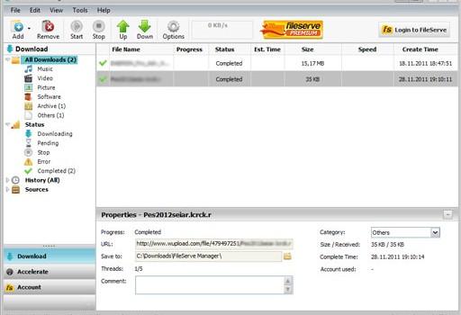 FileServe Manager Ekran Görüntüleri - 2
