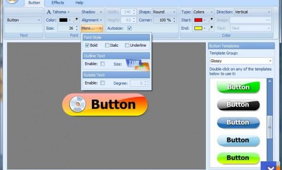 Web Button Maker Deluxe v3.01 Ekran Görüntüleri - 2