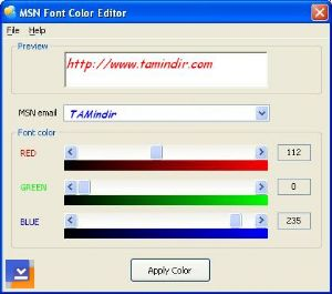 MSN Font Color Editor v4.2 Ekran Görüntüleri - 1