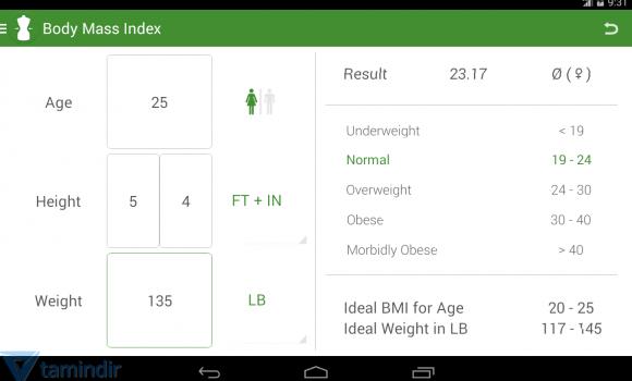 BMI Calculator Ekran Görüntüleri - 4