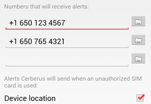 Cerberus anti theft Ekran Görüntüleri - 1